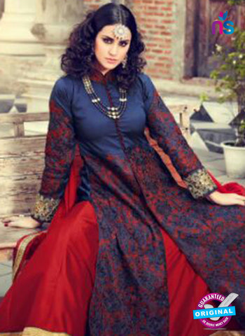 Mohini 29001 Blue and Maroon Silk Plazo Suit  Online'