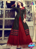 Mohini 29003 Black and Maroon Georgette Indo Western Suit