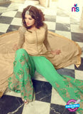 Mohini 29005 Beige  and Green Georgette Indo Western Suit  Online Shopping