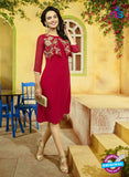 SC 13399 Red Designer Traditional Party Wear Fancy Kurti