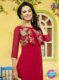 SC 13399 Red Designer Traditional Party Wear Fancy Tunic
