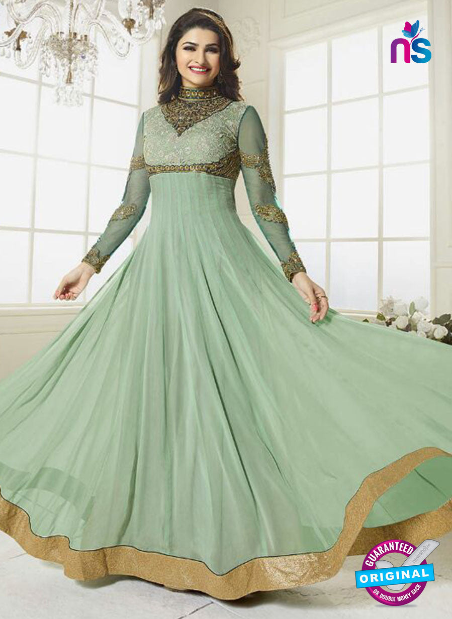 Vinay Fashion 2941 Green Color Georgette Anarkali Suit