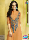SC 13410 Orange Designer Traditional Party Wear Fancy Kurti