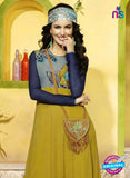 SC 13400 Grey, Blue and Yellow Designer Traditional Party Wear Fancy Tunic