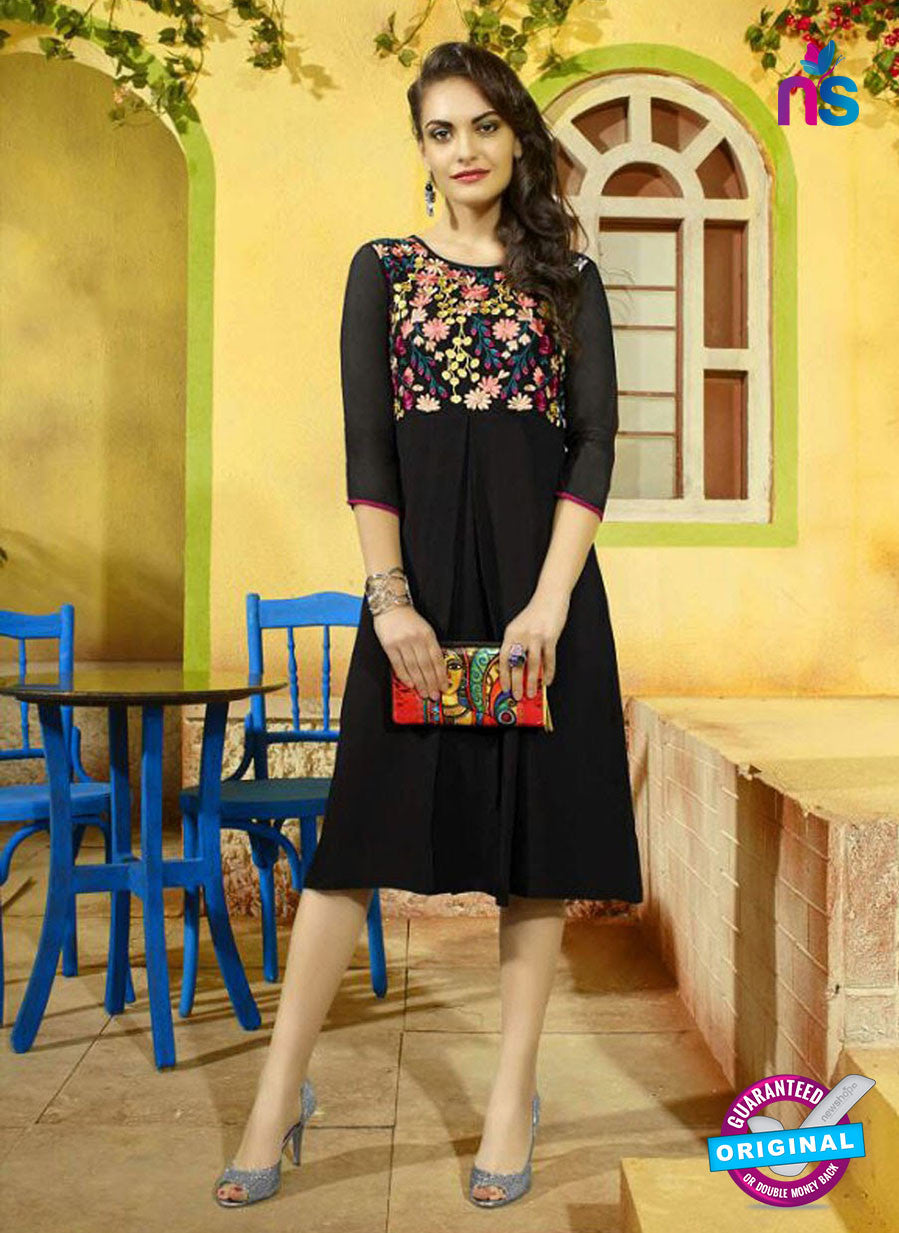 SC 13406 Black Designer Traditional Party Wear Fancy Kurti