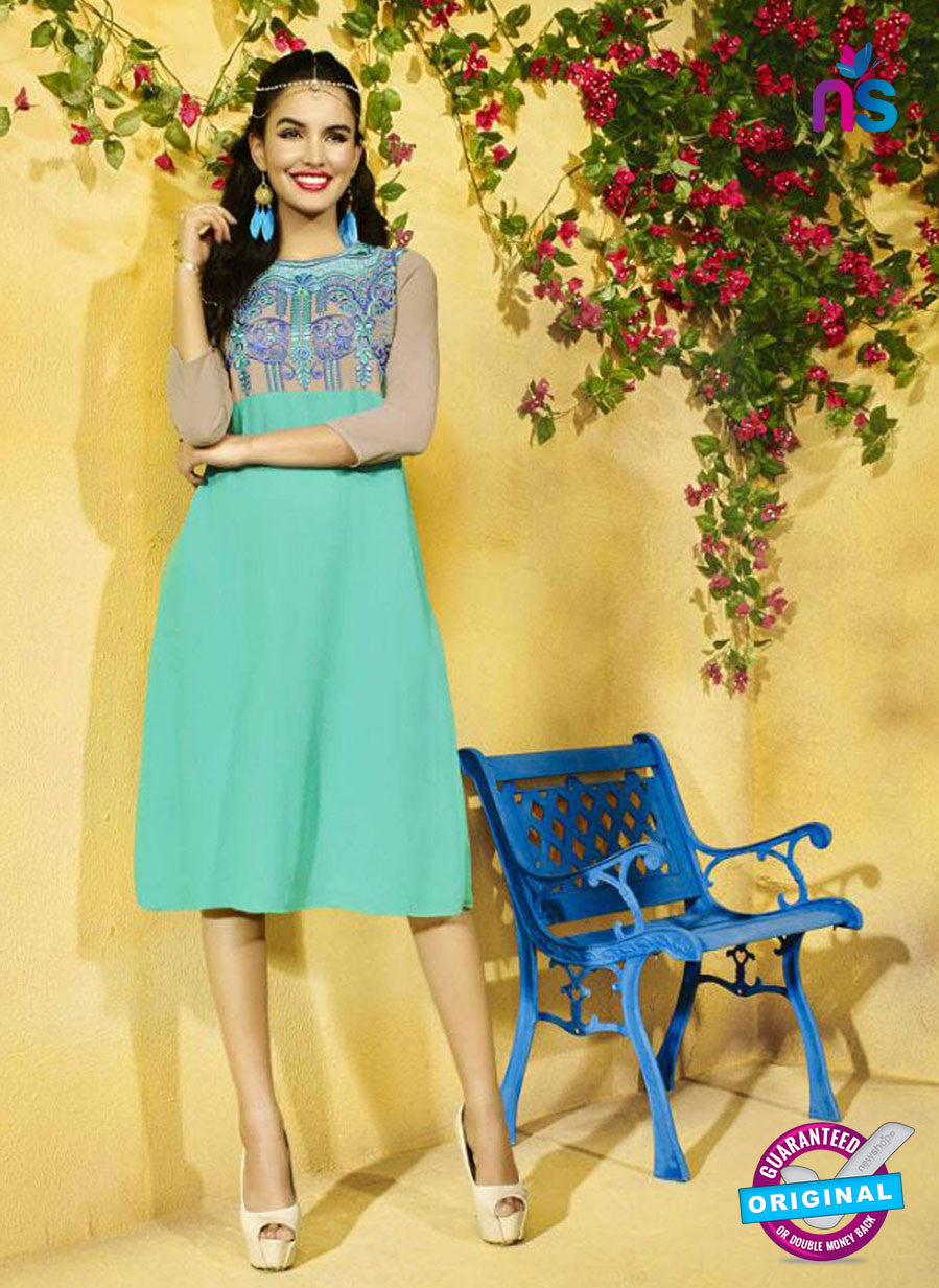 SC 13401 Sea Green Designer Traditional Party Wear Fancy Kurti