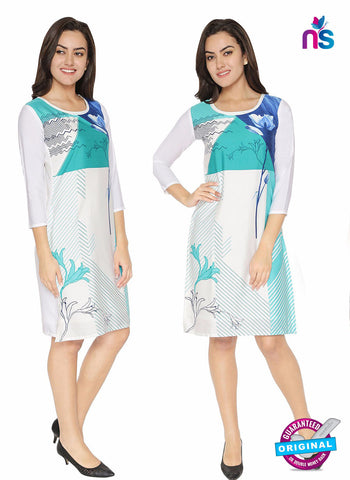 Maya 2 White Crepe Formal Kurti