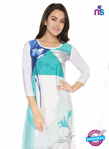 AZ 5184 White Crepe Formal Kurti