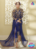NS10108 Blue Party Wear Georgette/Mono Net Designer Suit