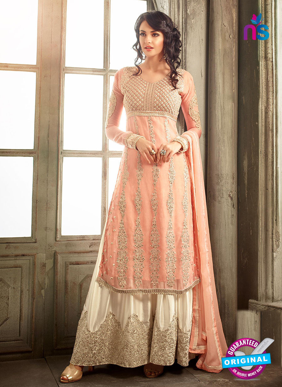 Mohini 30001 A Peach Chiffon Party Wear Suit