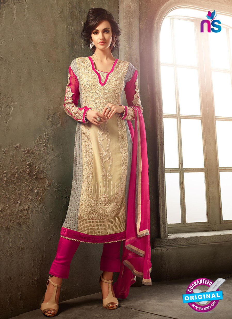 Mohini 30002 Beige Chiffon Party Wear Suit