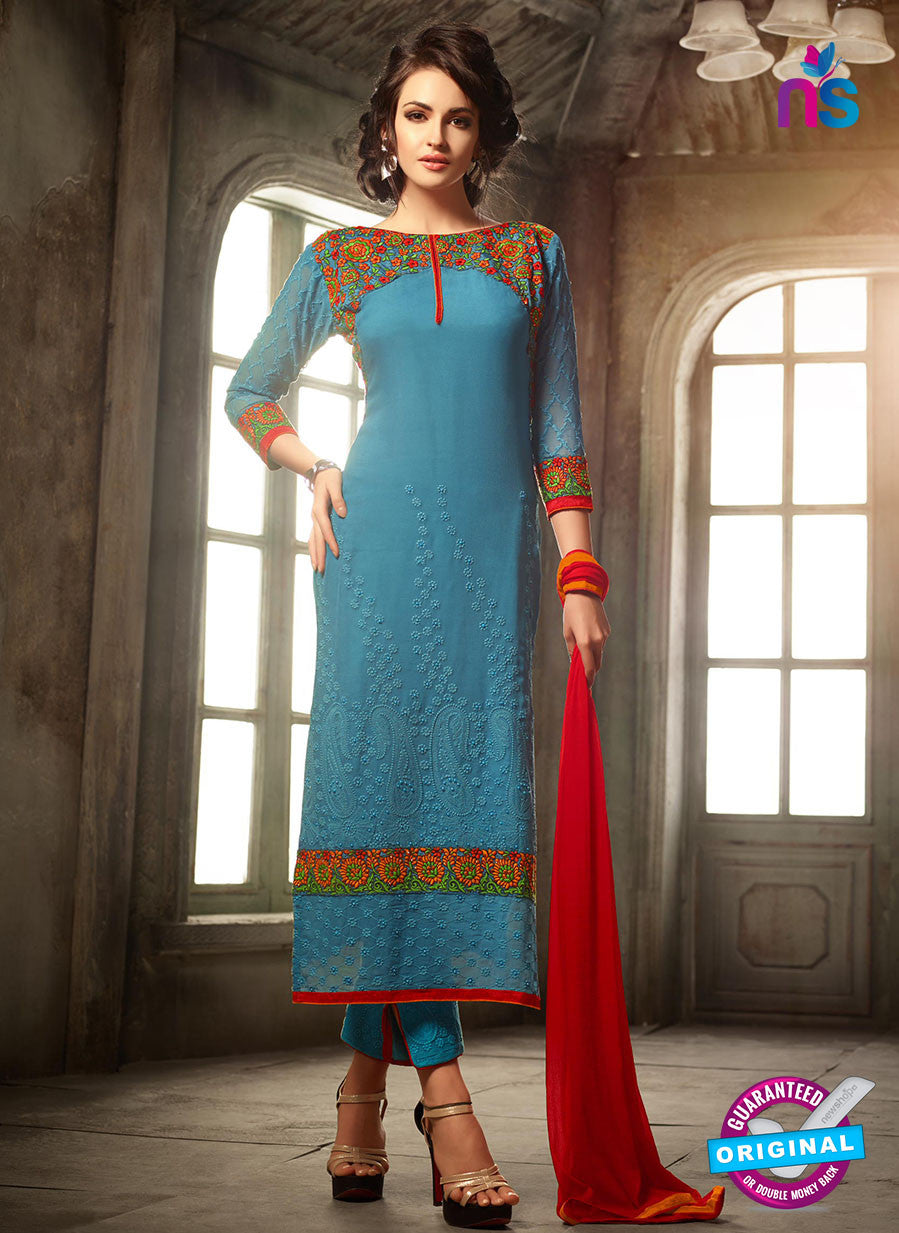 Mohini 30003 Sky Blue Georgette Party Wear Suit