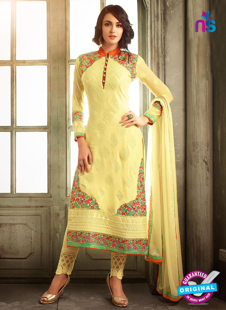 Mohini 30006 A Yellow Georgette Party Wear Suit