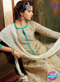 SC 13705 Beige and White Designer Fancy Exclusive Function Wear Straight Plazo Suit