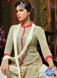 SC 13709 Beige Designer Fancy Exclusive Function Wear Straight Plazo Suit