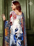 Hemani 3001B  Blue and Multicolor Color Glace Cotton Designer Suit