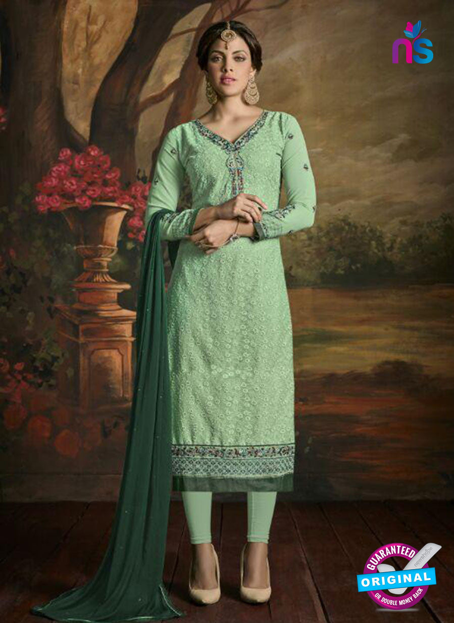 Opulent Charm 3001 Sea Green Faux Georgette Pakistani Suit