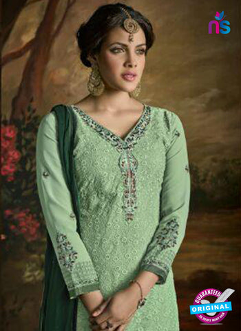 Opulent Charm 3001 Sea Green Faux Georgette Pakistani Suit Online