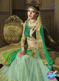 AZ 3577 Sea Green Net Party Wear Saree