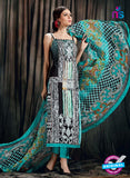 SC 12625 Multicolor and Green Printed Cambric Pakistani Suit