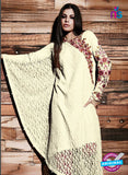 SC 13330 Beige and Pink Fancy Lace Nette Designer Suit Online