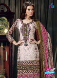 SC 12622 Beige and Multicolor Printed Cambric Pakistani Suit