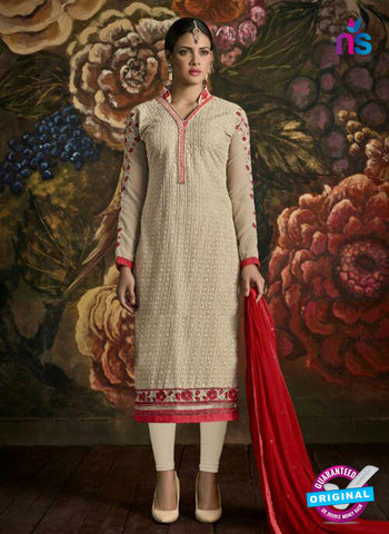 AZ 2185 Beige Faux Georgette Pakistani Suit