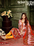 Hemani 3005A  Yellow & Orange Color Glace Cotton Designer Suit