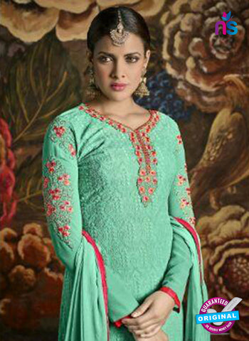 Opulent Charm 3005 Sea Green Faux Georgette Pakistani Suit