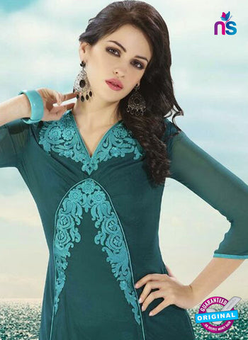 NS10501  Blue Georgette Embroidery Kurti Online