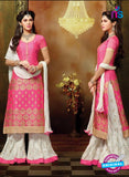 SC 13710 Pink and White Designer Fancy Exclusive Function Wear Straight Plazo Suit