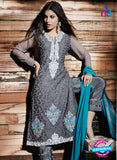 NS Rabia 12451 Grey Georgette Party Wear Suit