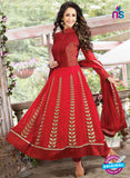 SC 13179 Red and Maroon Anarkali Suit