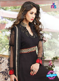 SC 13177 Black and Red Anarkali Suit