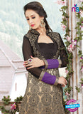 SC 13175 Black, Beige and Purple Anarkali Suit