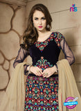 AZ 3330 Black Embroidered Velvet Fancy Designer Lehenga