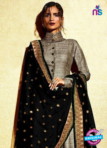 Nakashhi 3032 E Black Embroidered Khadi Pakistani Suit Online