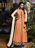 Jinaam 3034 G Orange Color Net Georgette Designer Suit