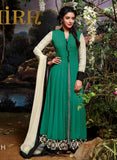 Jinaam 3034 H Green Color Net Georgette Designer Suit