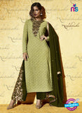 SC 12825 Green Embroidered Net Weddding Wear Designer Suit