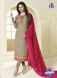 Vinay Fashion 3036 Grey and Pink Color Georgette Designer Suit