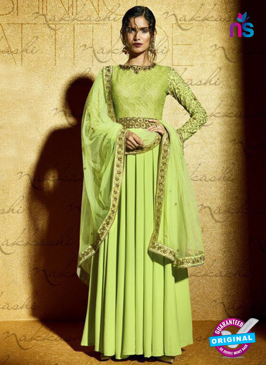 SC 12821 Green Embroidered Weddding Wear Designer Anarkali Suit