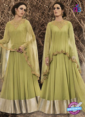 Nakkashi 3040 Green Georgette Gown