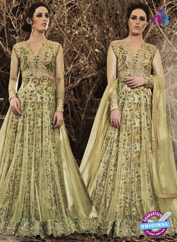 Nakkashi 3041 Green Net Gown