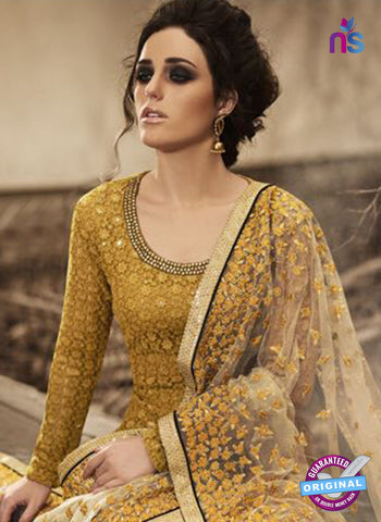 Nakkashi 3042 Yellow Net Salwar Suit