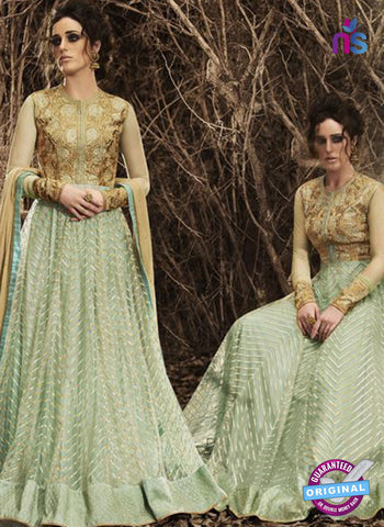 Nakkashi 3049 Green Net Raw Silk Gown