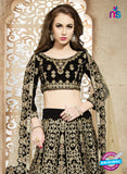 AZ 3333 Black Embroidered Velvet Fancy Designer Lehenga