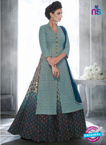 Florence 3050 Sky Blue Indo Western Suit
