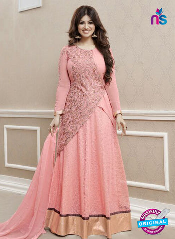 Roles 31001 Pink Faux Georgette Fancy Designer Gown