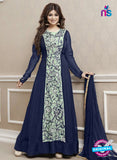 Roles 31002 Blue Faux Georgette Fancy Designer Gown